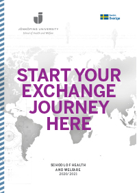 Layout of the brochure with the text: Start your exchange journey here